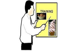 Ice cream roll training