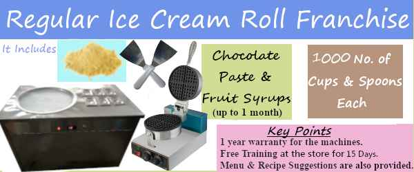Regular ice cream roll franchise